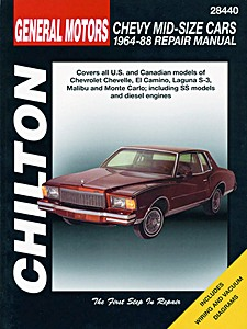 Boek: Chevrolet Mid-size Cars - Chevelle, Malibu, Laguna S-3, Monte Carlo and El Camino (1964-1988) - Chilton Repair Manual