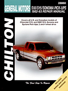 Livre : Chevrolet S10 / GMC S15, Sonoma Pick-Ups (1982-1993) - Chilton Repair Manual