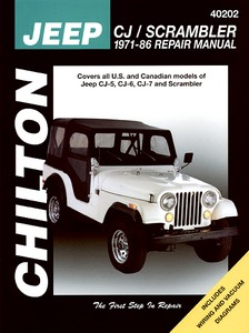 Livre : Jeep CJ / Scrambler - CJ-5, CJ-6, CJ-7 and Scrambler (1971-1986) - Chilton Repair Manual