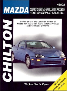Boek: Mazda 323, MX-3, 626, MX-6, Millenia (Xedos 9), Protege (1990-1998) / Ford Probe (1993-1997) (USA) - Chilton Repair Manual