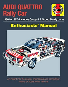 Boek: Audi Quattro Rally Car Manual (1980-1987) - An insight into the design, engineering and competition history