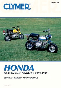 Livre : Honda 50-110 cc OHC Singles - C/CL/CT 70-110, S/SL/ST 65-90, XL 70, Z 50 (1965-1999) - Clymer Motorcycle Service and Repair Manual