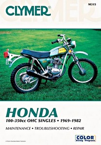 Livre : Honda CB100-125, CL 100, CT 125, SL 100-125, TL 125-250, XL 100-350 - 100-350 cc OHC Singles (1969-1982) - Clymer Motorcycle Service and Repair Manual