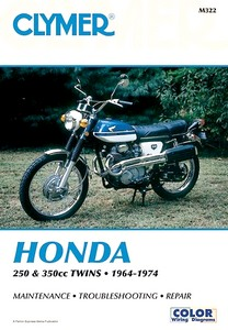 Livre : Honda CB 250-350, CL 250-350, SL 350 - 250-350 cc Twins (1964-1974) - Clymer Motorcycle Service and Repair Manual