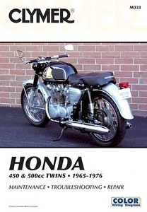 Livre : Honda CB 450, CL 450, CB 500T - 450 & 500 cc Twins (1965-1976) - Clymer Motorcycle Service and Repair Manual