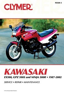 Livre : Kawasaki EX 500, GPZ 500S and Ninja 500R (1987-2002) - Clymer Motorcycle Service and Repair Manual