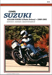 Livre : Suzuki GS 1100 Chain Drive (1980-1981) - Clymer Motorcycle Service and Repair Manual