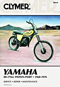 Livre : Yamaha 80-175 cc Piston Port - AT, CT, DT, GT, MX, YZ (1968-1976) - Clymer Motorcycle Service and Repair Manual