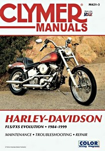 Livre : Harley-Davidson FLS / FXS - Evolution (1984-1999) - Clymer Motorcycle Service and Repair Manual